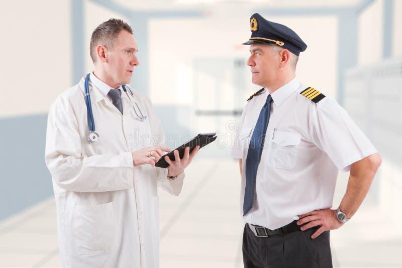 Aeromedical examen royaltyfria bilder
