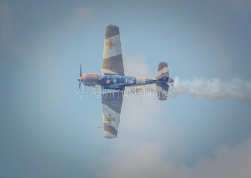 Aeronautic show 2016 ,Bucharest. Picture from aeronautic show 2016 event ,developments aerial acrobatics high airplanes, water development programs and royalty free stock images