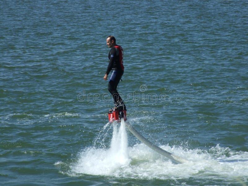 Aeronautic show 2013. Fly boarder at Aeronautic show 2013 on Morii Lake in Bucharest, Romania stock photos