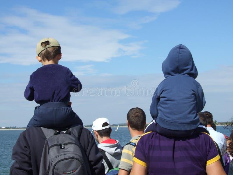 Aeronautic show 2013. People with children Aeronautic show 2013 on Morii Lake in Bucharest, Romania stock photo