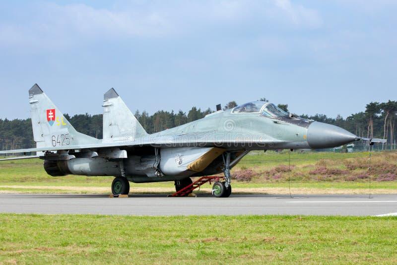 Aeronautica slovacca MiG-29 fotografie stock
