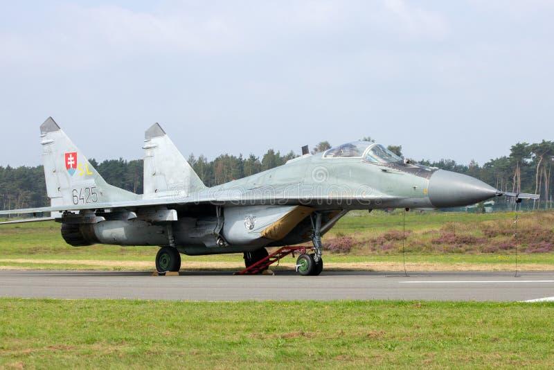 Aeronautica slovacca MiG-29 fotografia stock libera da diritti