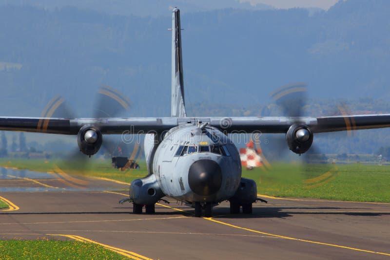Aeronautica spagnola c 130 fotografia stock libera da diritti