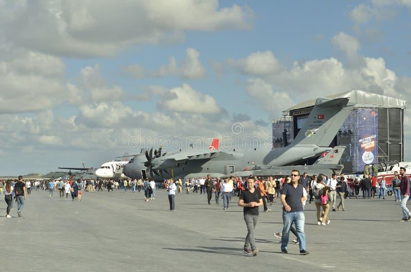 Aeronautyczny festiwal Istanbul X fotografia royalty free