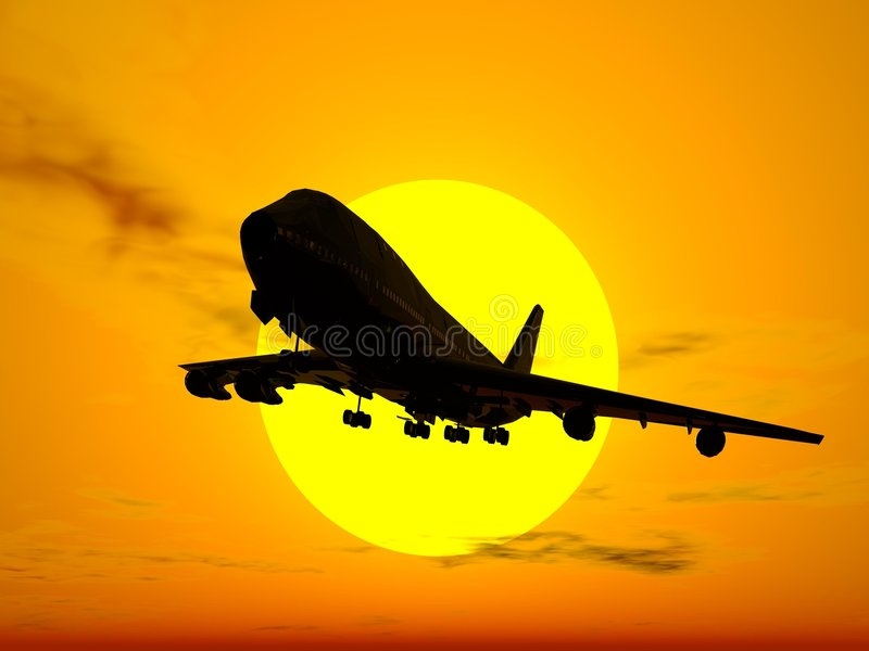 Aeroplane royalty free stock photography