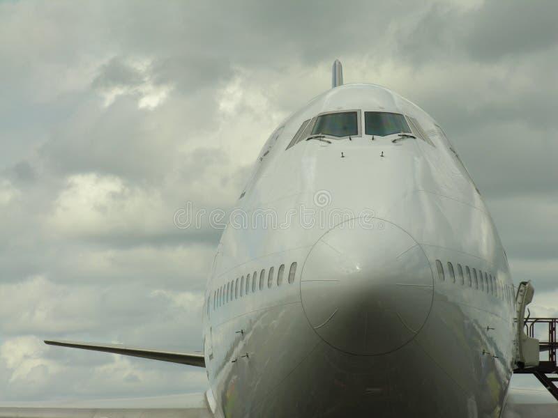 Aeroplane head on stock images