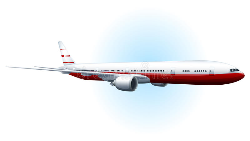 An aeroplane. Illustration of an aeroplane on a white background stock illustration