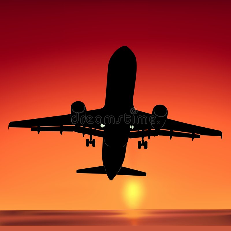 Aeroplane Silhouette 01. High detailed vector illustration vector illustration