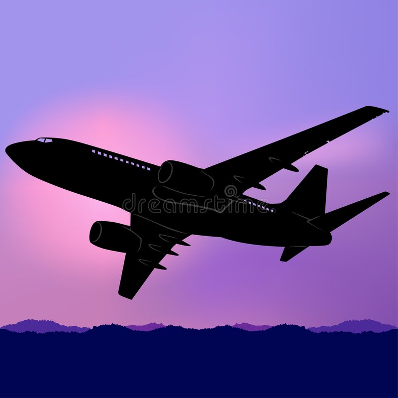 Aeroplane Silhouette 02. High detailed vector illustration vector illustration