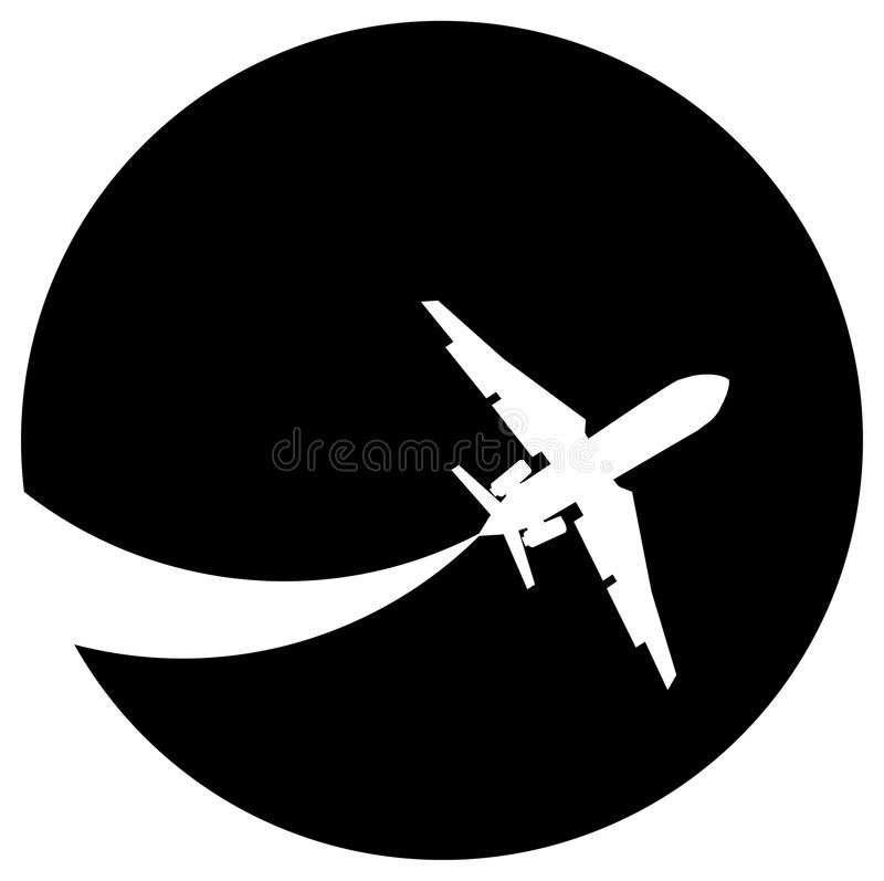 Download Aeroplane silhouette stock vector. Image of altitude - 17328113