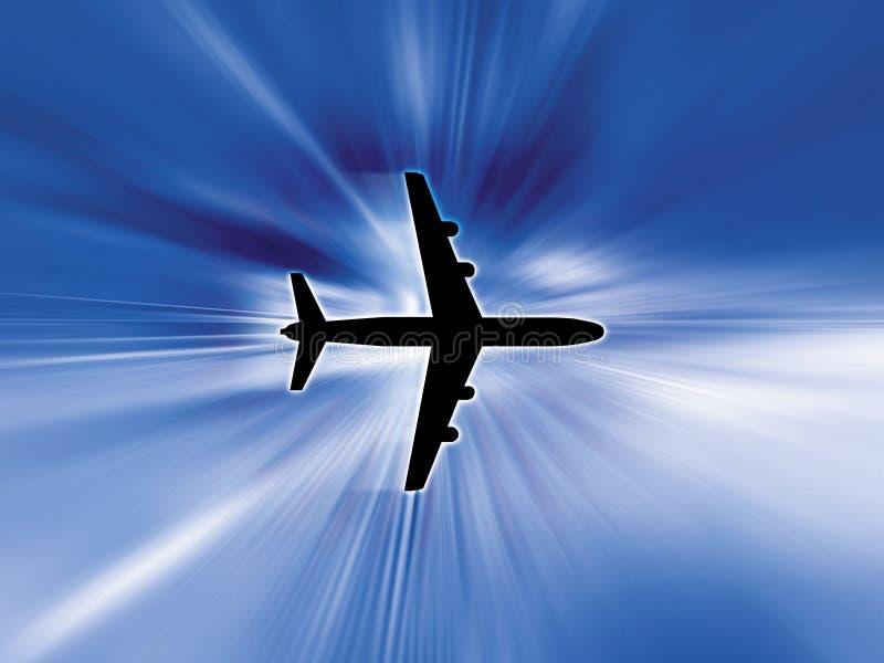 Aeroplane in sky royalty free illustration