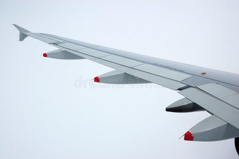 Aeroplane Wing Royalty Free Stock Images