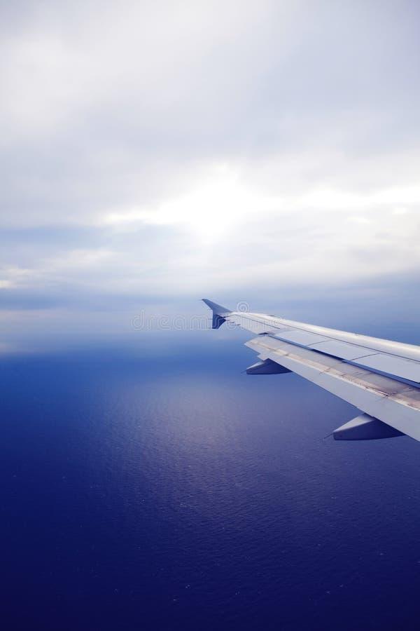 Aeroplane wing stock photography