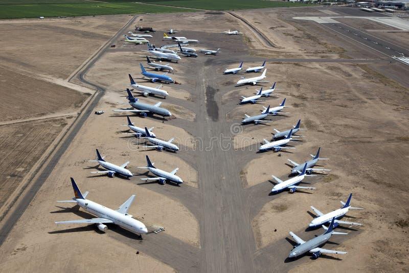 Aeroplani nella memoria immagine stock