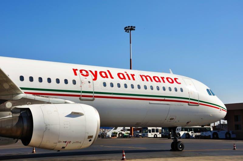Aeroplani reali di Maroc dell'aria di Maroco immagini stock libere da diritti