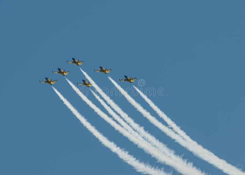 Aeroplani su airshow immagini stock