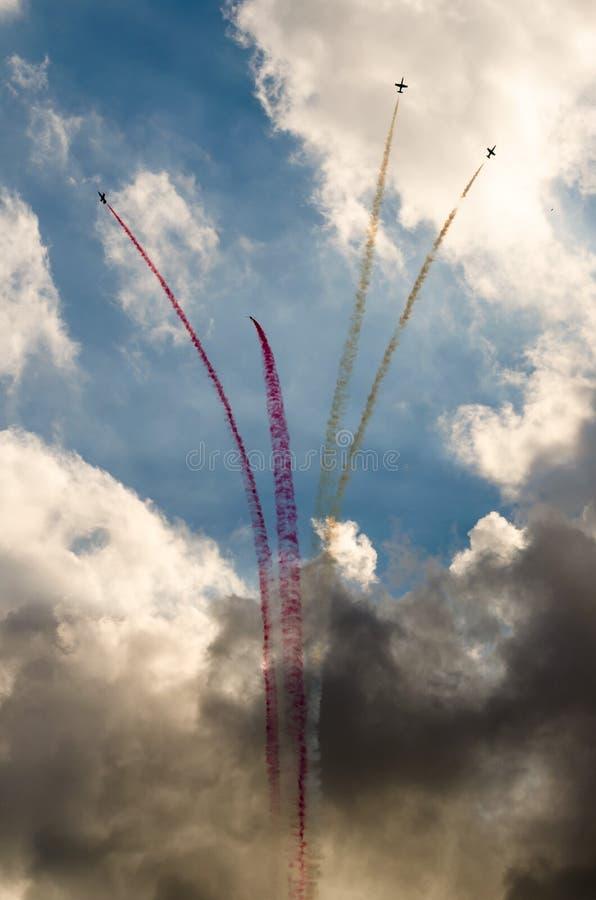 Aeroplani su airshow fotografia stock libera da diritti