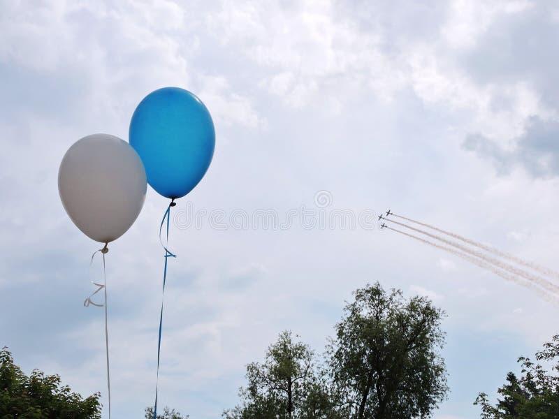 aeroplani sullo show aereo fotografie stock libere da diritti