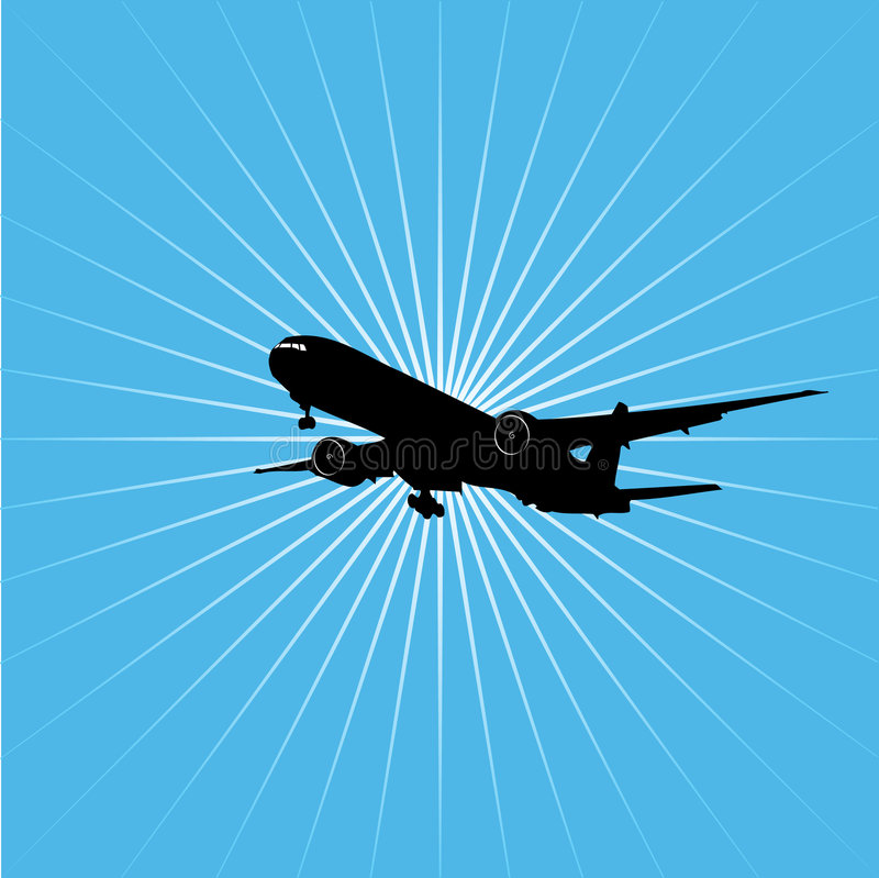 Aeroplano illustrazione di stock