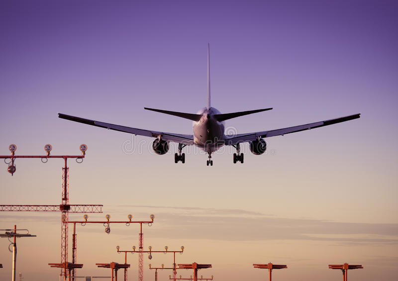 Aeroplano/aeroporto fotografia stock