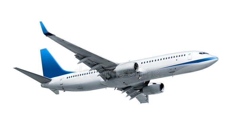 Aeroplano aislado en blanco fotografía de archivo
