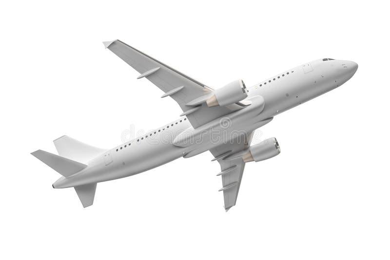 Aeroplano aislado en un fondo blanco ilustración del vector