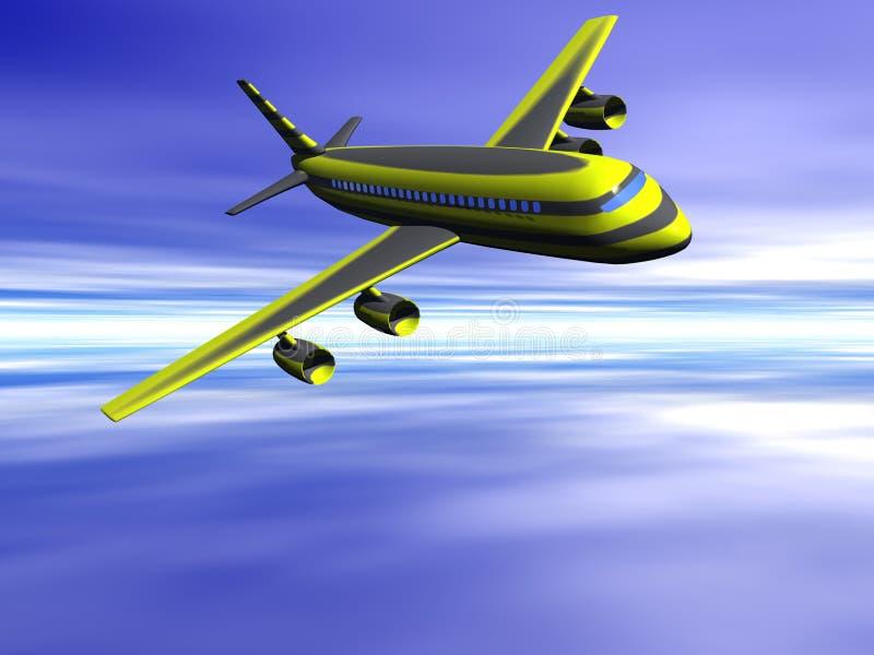Aeroplano, andante sulla vacanza. royalty illustrazione gratis