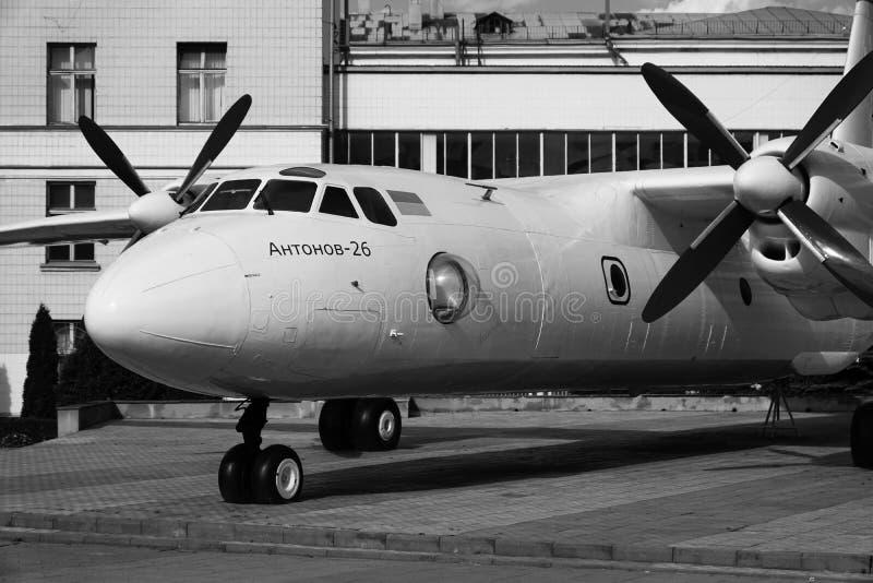 Aeroplano Antonov 26 imagen de archivo