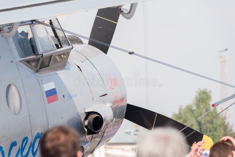 Aeroplano Antonov-2 en estacionamiento foto de archivo libre de regalías