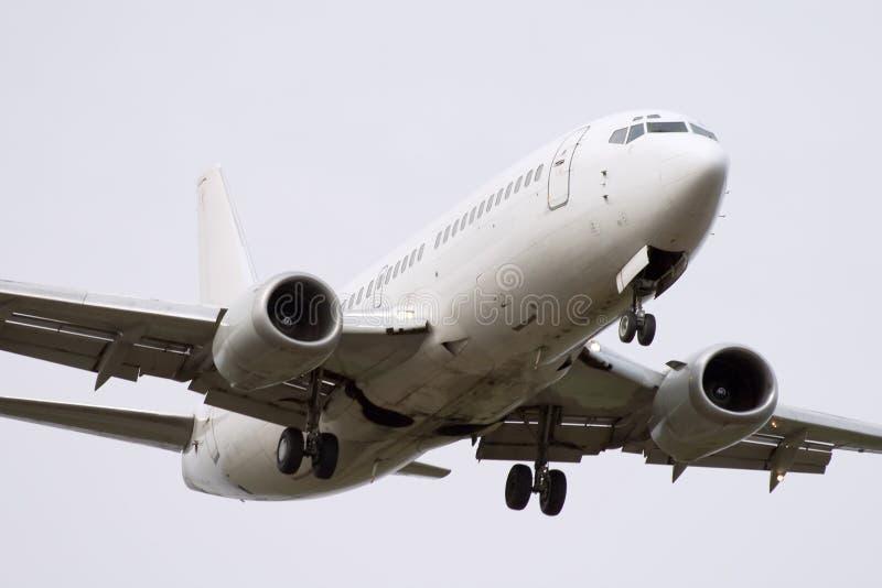 Aeroplano blanco del jet foto de archivo libre de regalías