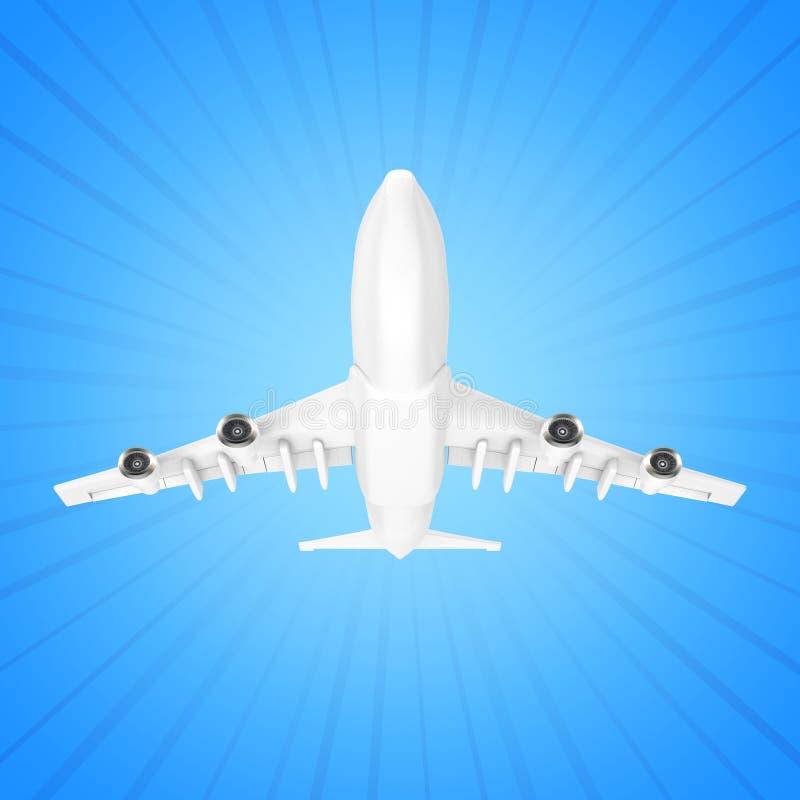 Aeroplano blanco del ` s de Jet Passenger representación 3d stock de ilustración