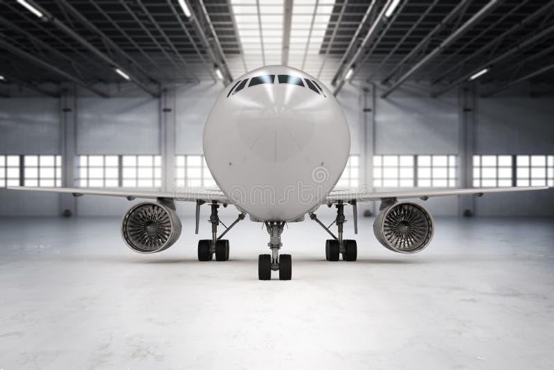 Aeroplano in capannone fotografie stock