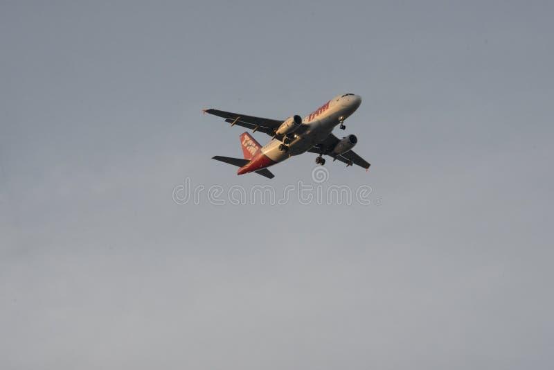 Aeroplano commerciale fotografia stock