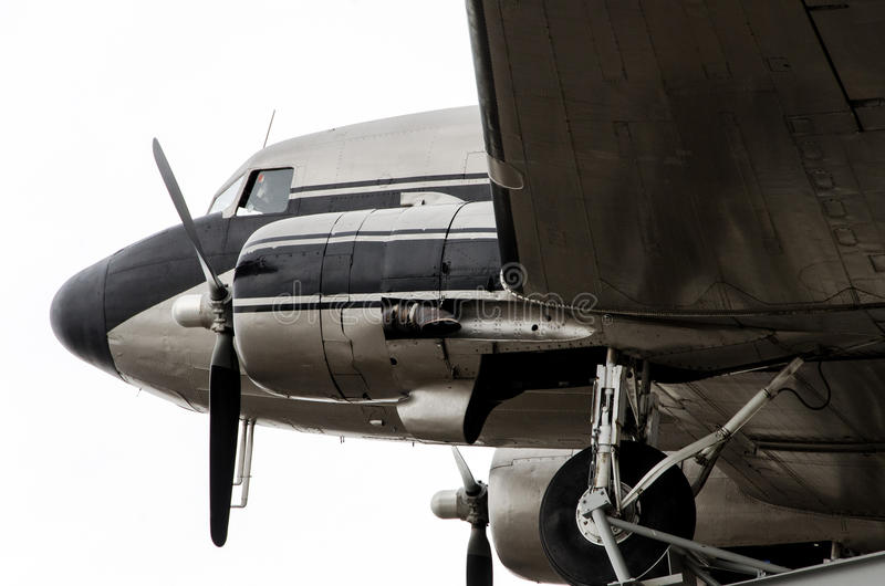 Aeroplano DC-3 fotografia stock