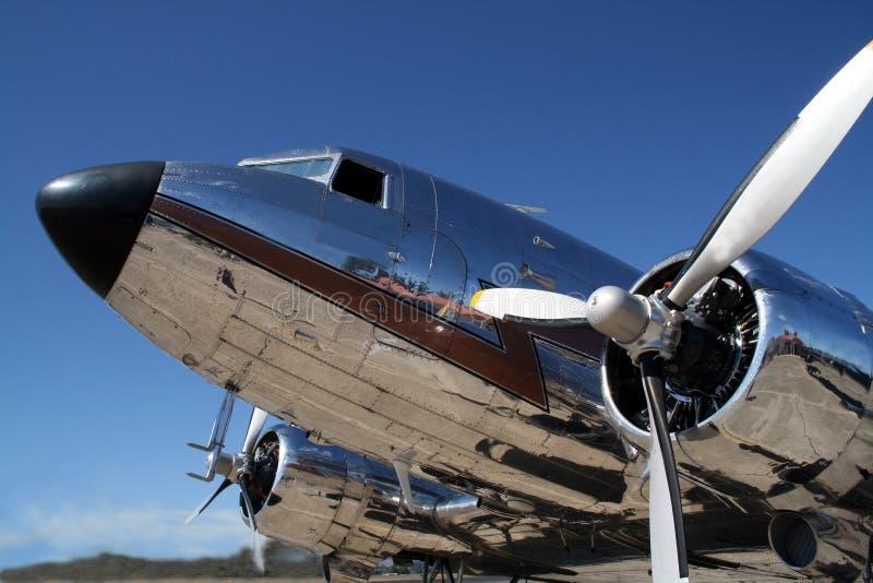 Aeroplano DC3 fotografía de archivo