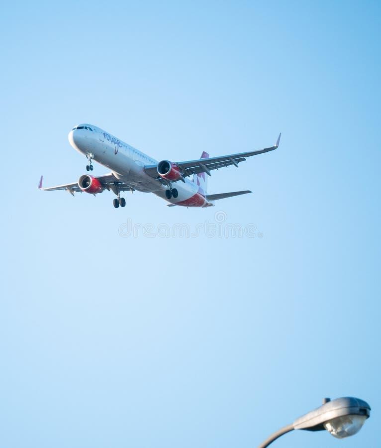 Aeroplano de Airbus del colorete de Air Canada imagen de archivo libre de regalías
