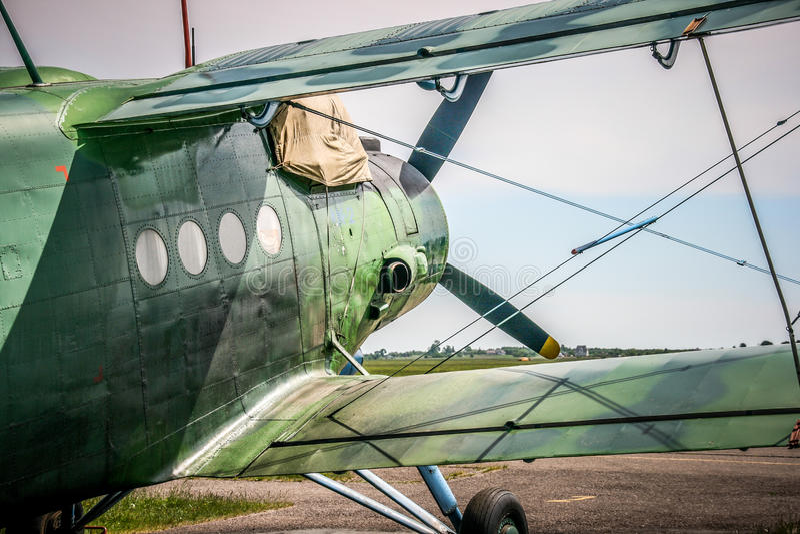 Aeroplano de Antonov An-2 fotografía de archivo