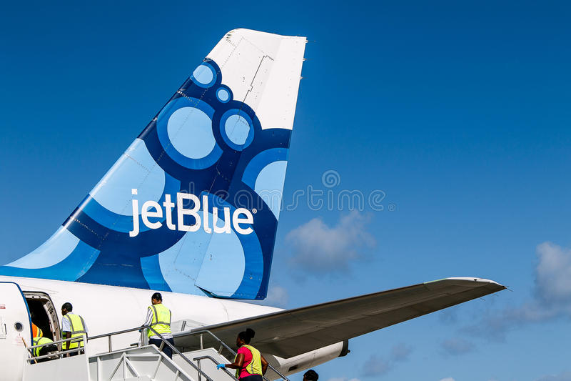 Aeroplano de JetBlue fotos de archivo