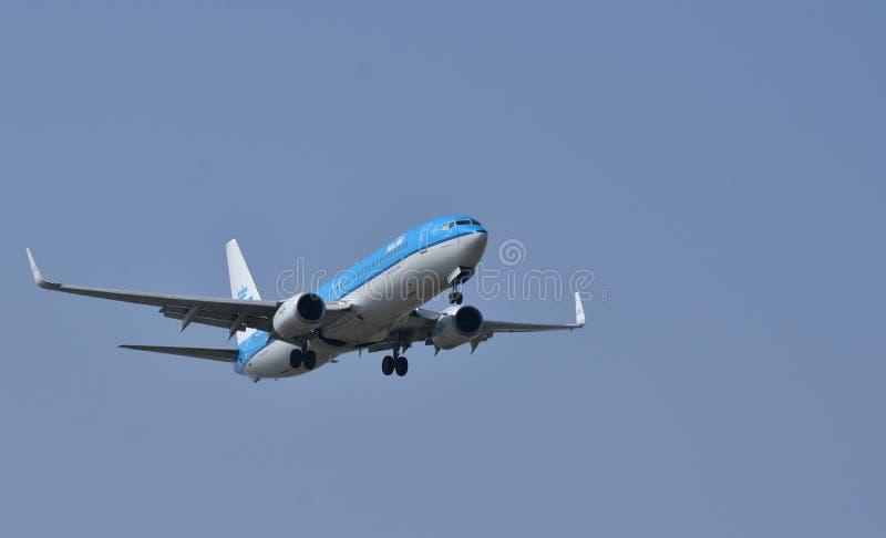Aeroplano de KLM foto de archivo libre de regalías
