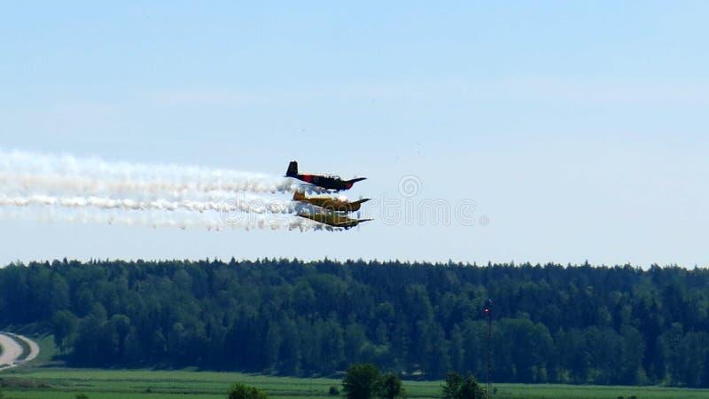 Aeroplano de la demostración 3 de Fligt fotos de archivo