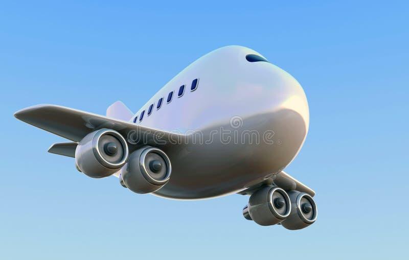 Aeroplano de la historieta stock de ilustración