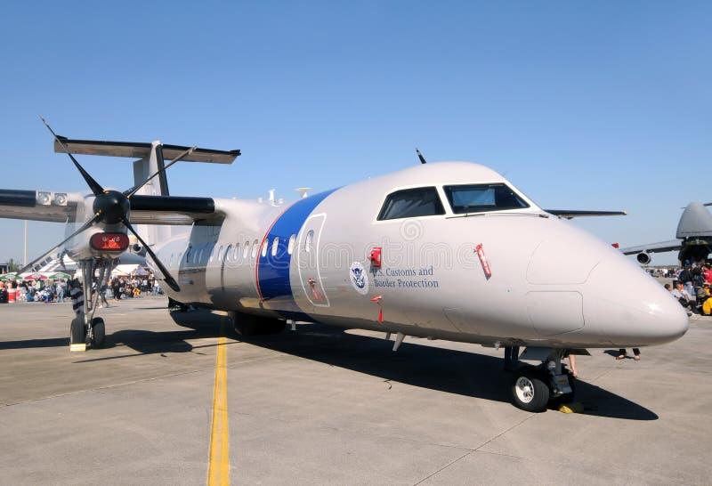 Aeroplano de la protección de las aduanas y de la frontera de los E.E.U.U. fotos de archivo