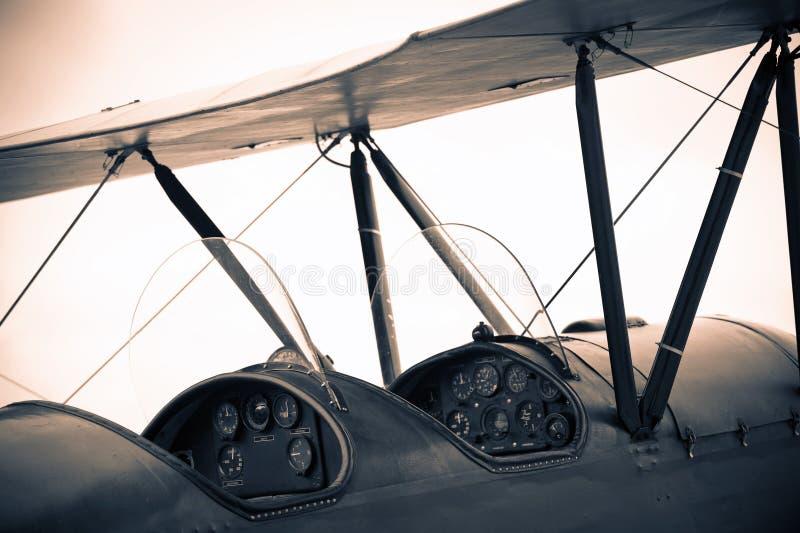 Aeroplano de la vendimia foto de archivo libre de regalías