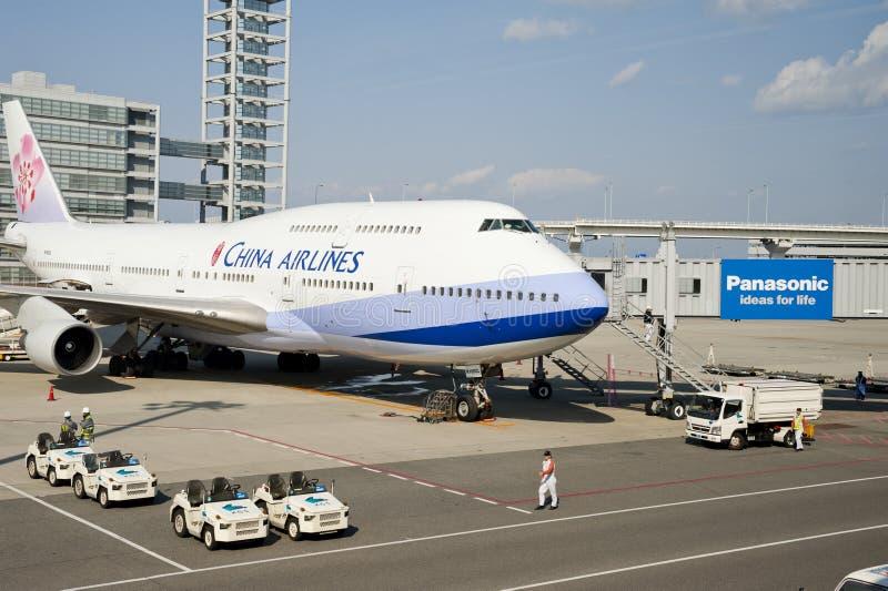 Aeroplano de las líneas aéreas de China foto de archivo