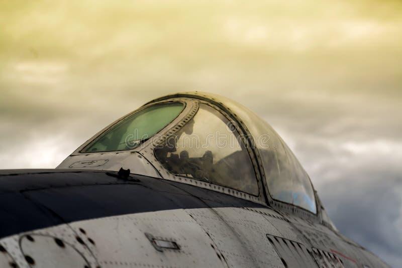 Aeroplano de los militares del vintage imágenes de archivo libres de regalías