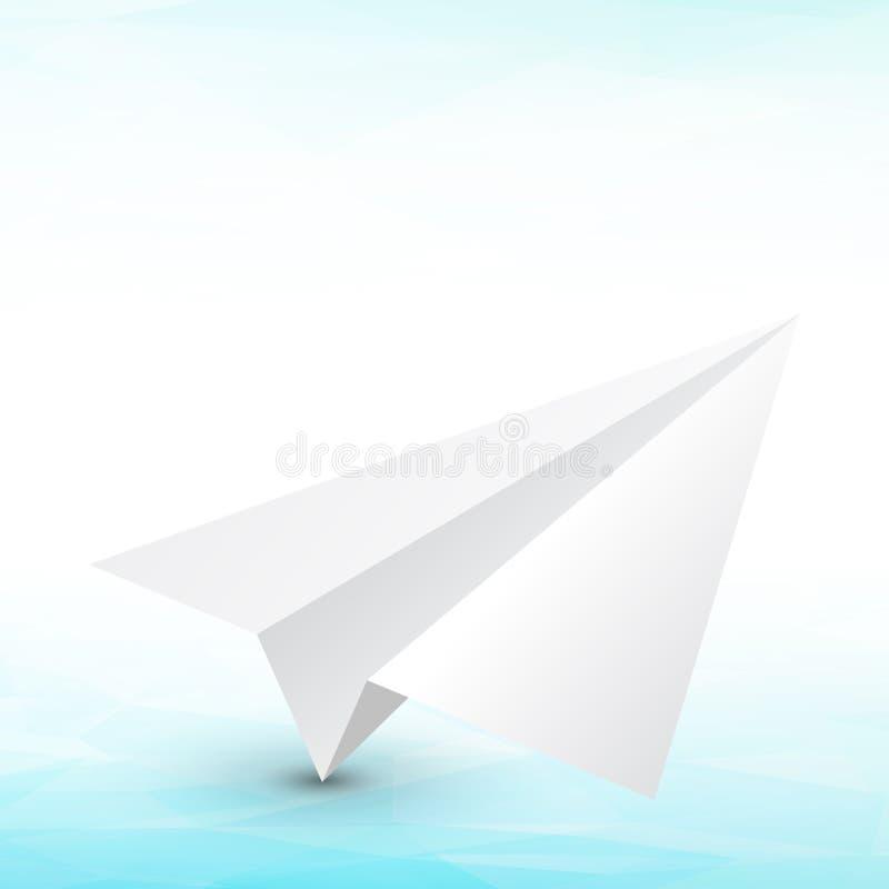 Aeroplano de papel stock de ilustración