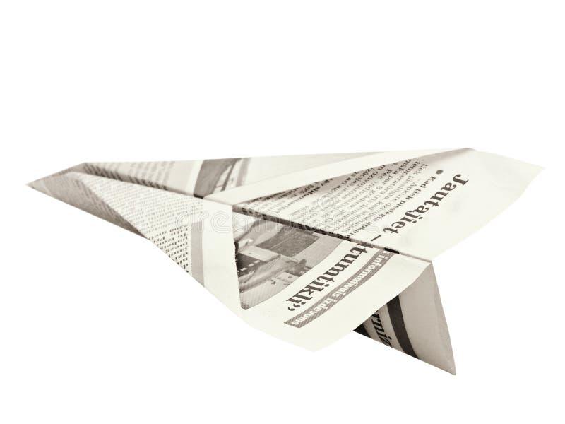 Aeroplano de papel imagen de archivo libre de regalías