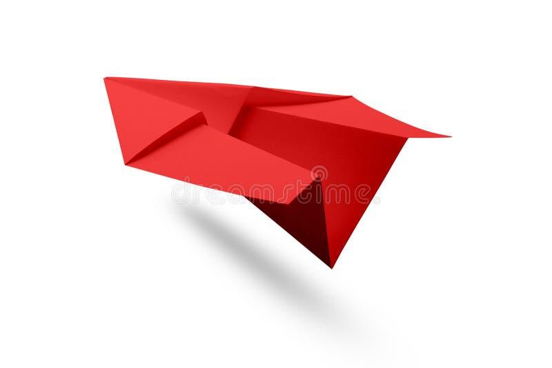 Aeroplano de papel aislado imagen de archivo