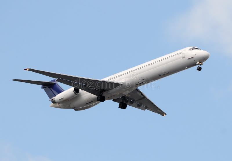 Aeroplano del avión de pasajeros foto de archivo libre de regalías