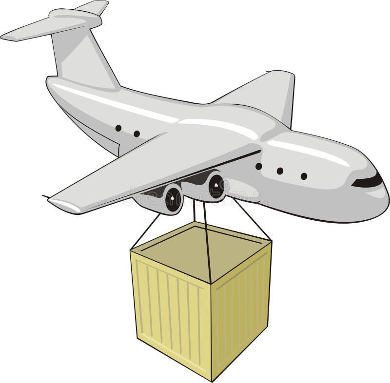 Aeroplano del cargo stock de ilustración